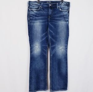 Silver Jeans plus size Aiko mid bootcut jeans 18